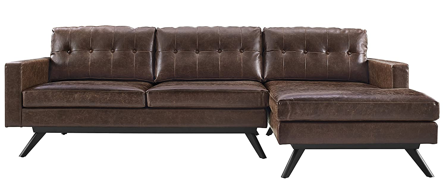 Amazon.com TOV Furniture Blake Antique RAF Sectional Chestnut Kitchen u0026 Dining  sc 1 st  Amazon.com : laf sectional - Sectionals, Sofas & Couches