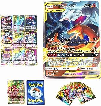 Dorara 100 Piezas TCG Estilo Pokemon GX Flash Tarjetas Trading ...