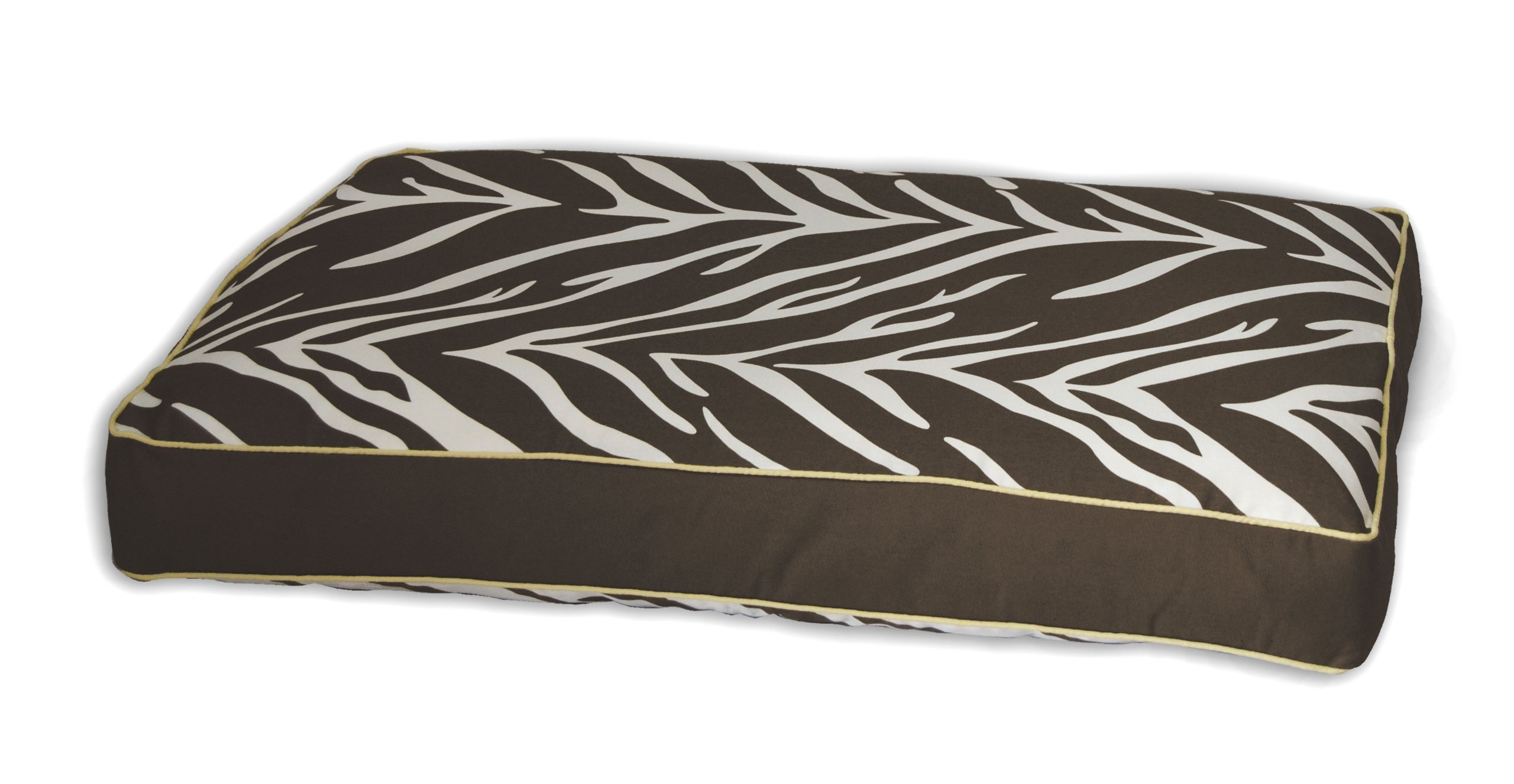 Zebra Memory Foam Topper Pillow Pet Bed Size: Medium (36'' H x 27'' W), Color: Brown