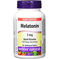 Webber Naturals Melatonin Easy Dissolve Sublingual Tablet, Peppermint, 3mg