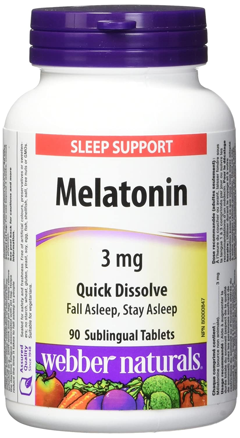 Amazon.com: Disolver Webber Melatonina 3 mg (fácil): Health ...