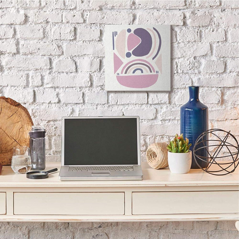 Stupell Industries Playful Abstract Organic Shapes Purple Pink Beige Canvas Lea Straatsma Wall Art 17 x 17
