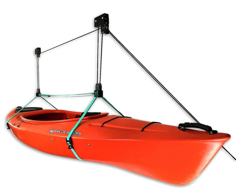 StoreYourBoard Kayak Ceiling Storage Hoist | Hi-Lift Home & Garage Hanging  Pulley Rack