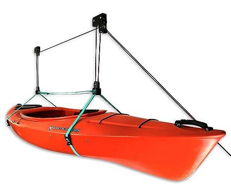 Kayak Ceiling Storage Hoist   Hi Lift Pro Home U0026 Garage Hanging Pulley Rack  System