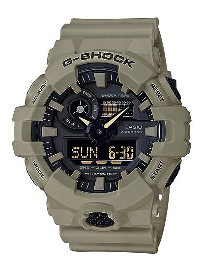 Casio Reloj Analogico-Digital para Hombre de Cuarzo con Correa en Resina GA-700UC-5AER: Amazon.es: Relojes