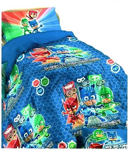 PJ Mask - Colcha de invierno para cama individual