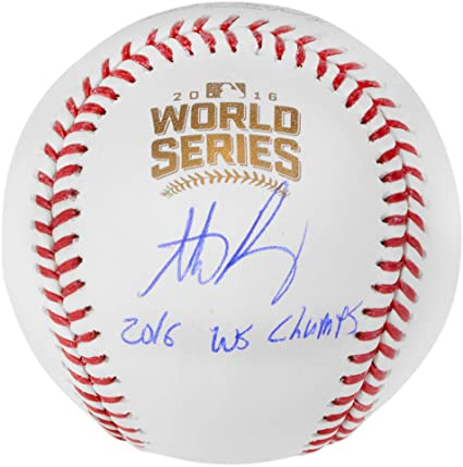 """49b35d2f Anthony Rizzo Chicago Cubs 2016 MLB World Series Champions Autographed  World Series Logo Baseball with"""""""