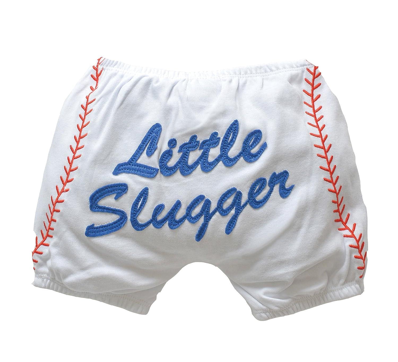 Amazon.com: Mud Pie Baby Boy Cotton Little Slugger Baseball Diaper ...
