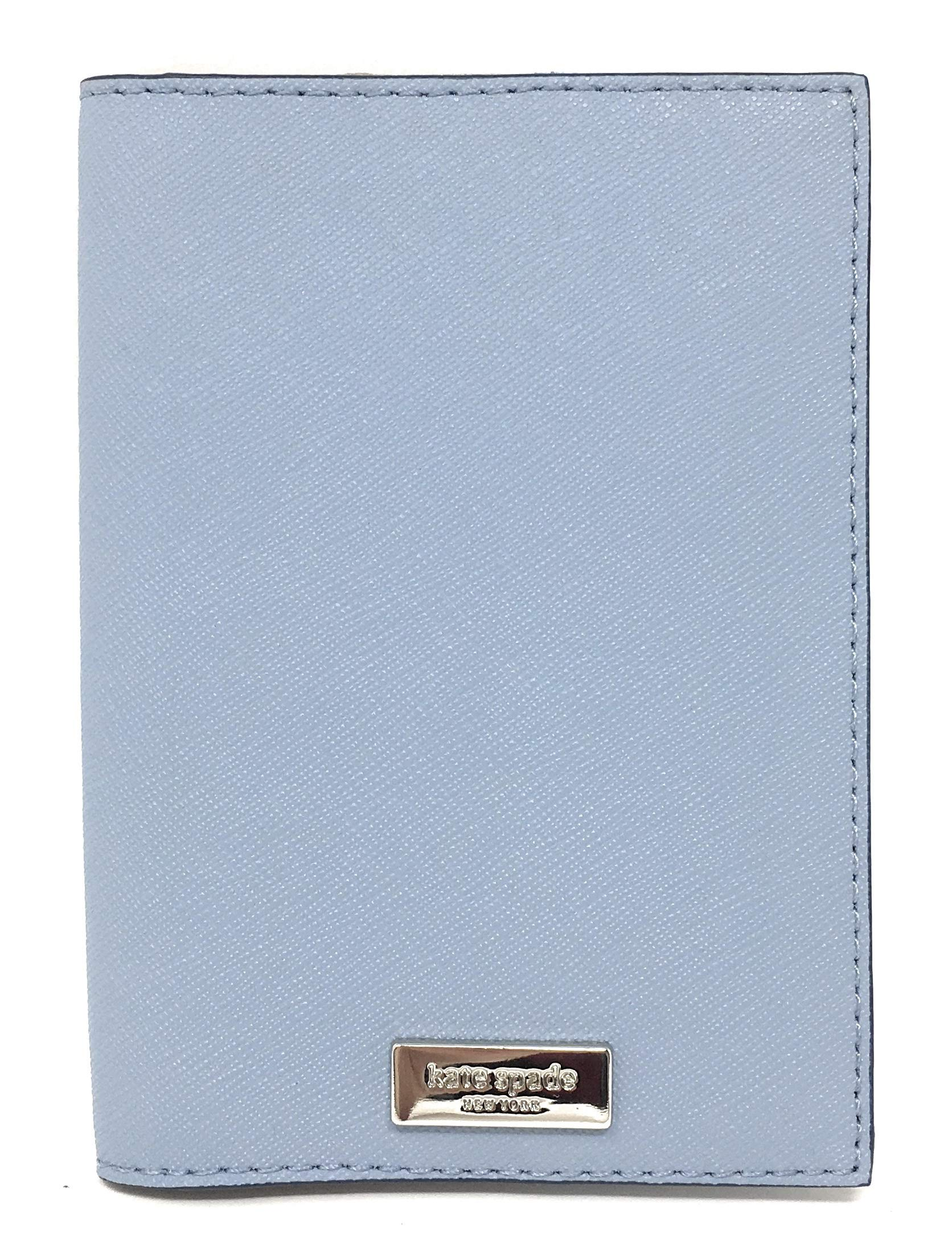 Kate Spade New York Laurel Way Leather Passport Holder (Blue Dawn) by Kate Spade New York