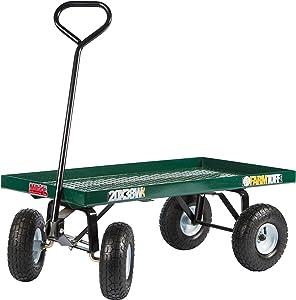 Farm Tuff Metal Deck Wagon, 20-Inch by 38-Inch, Green