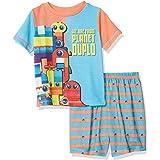 LEGO Movie 2 Pijama para niños, 2 Piezas, P J, Manga Corta