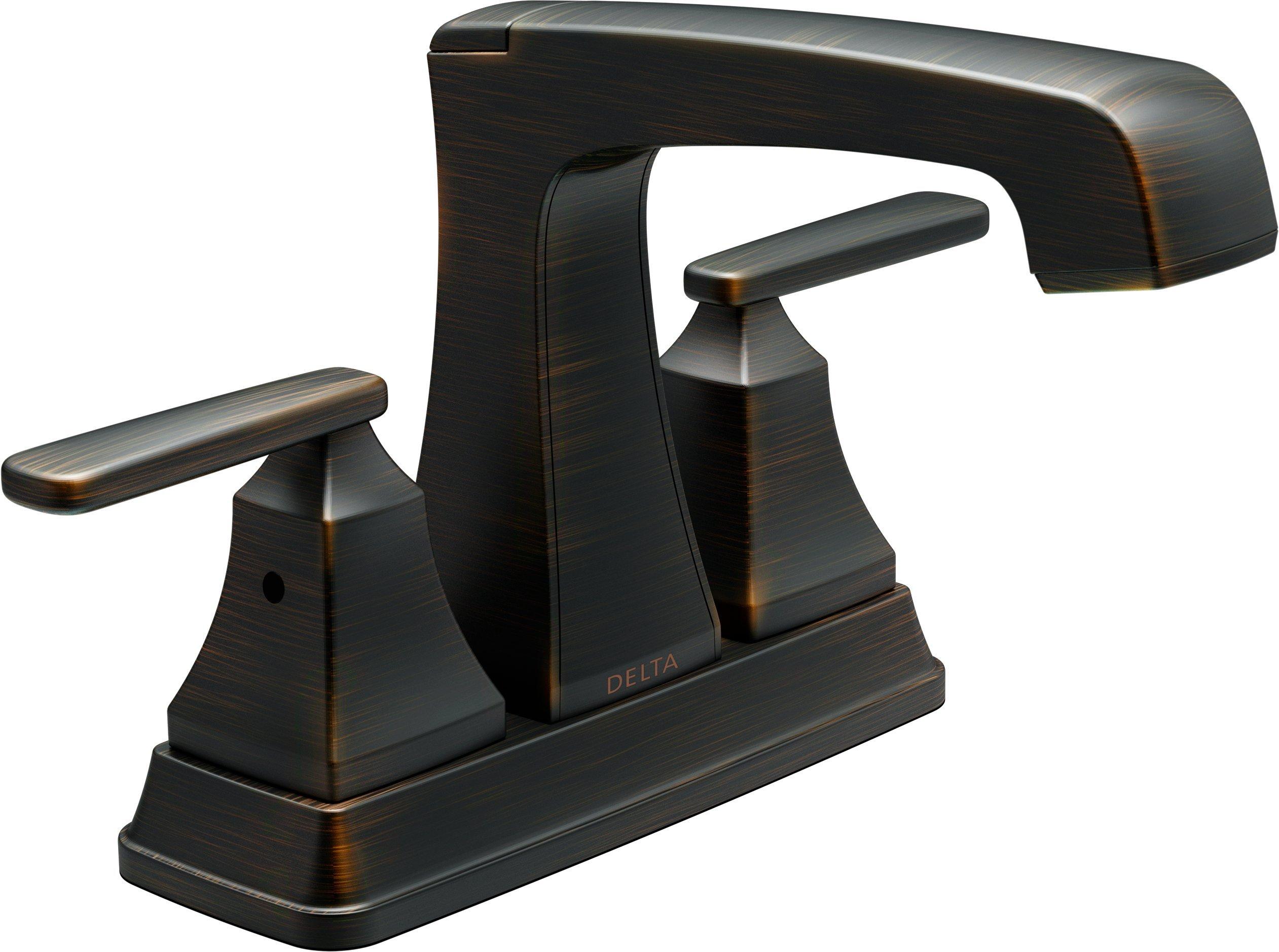 Delta Faucet 2564 RBMPU DST Ashlyn Two Handle Centerset Bathroom Faucet, Venetian Bronze