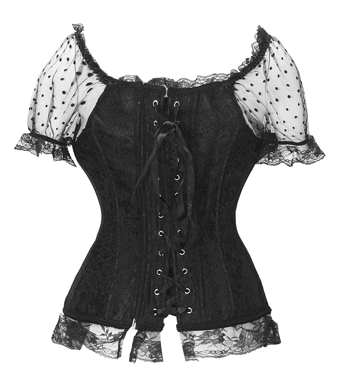 583bb7fb857 Amazon.com  Bslingerie Womens Halloween Costume Princess Bustier Corset  Top  Clothing