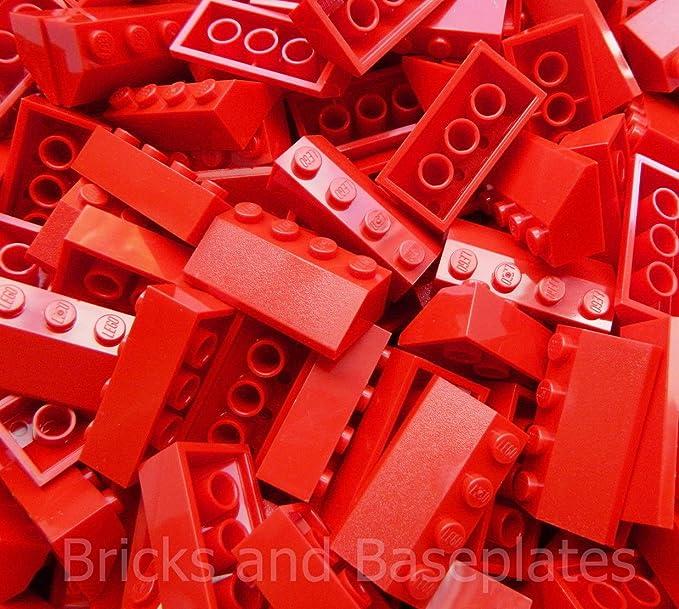 Zestawy LEGO Zabawki konstrukcyjne LEGO 50 LEGO Brand New Red Slope 45 2 x 4 2x4 No.3037 Roof Tile Building Top