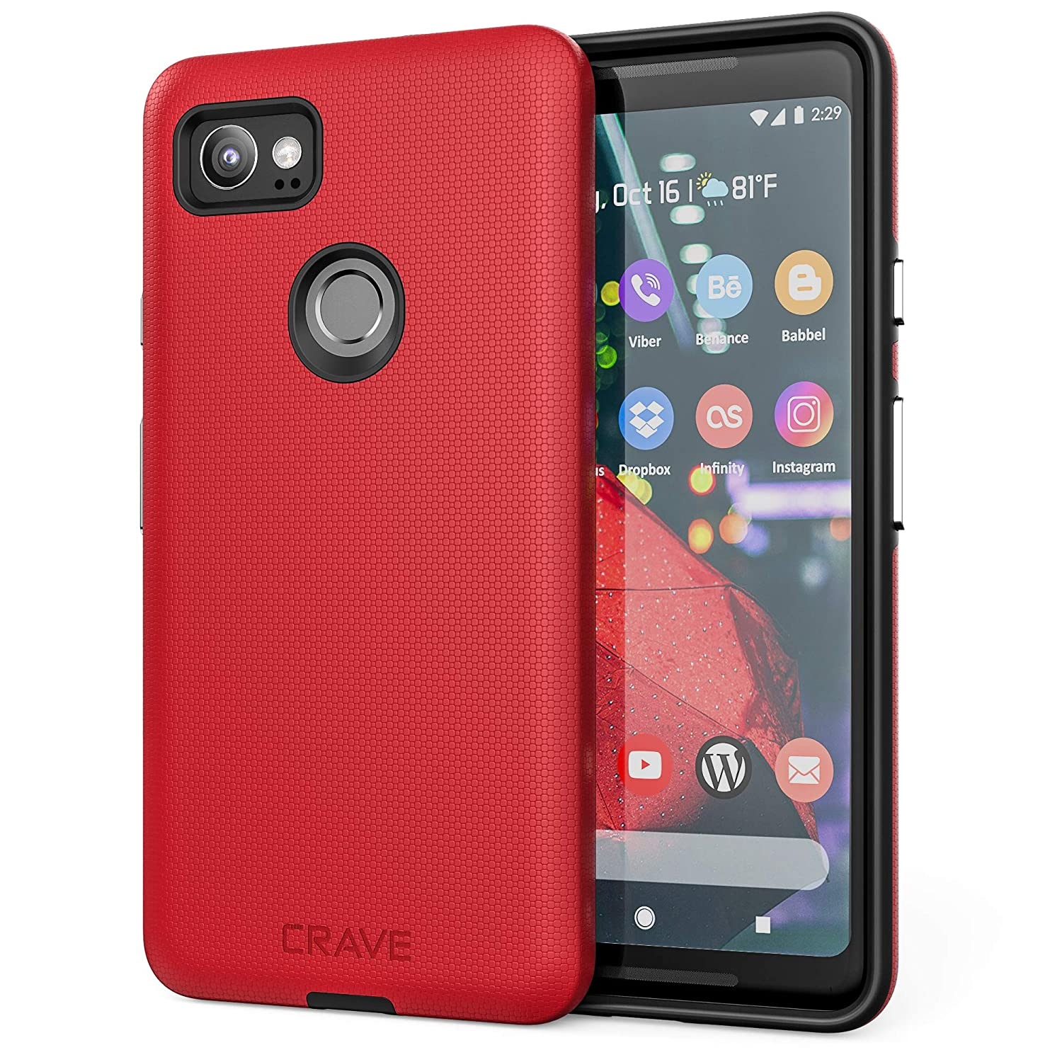 official photos 670a7 071f8 Google Pixel 2 XL Case, Crave Dual Guard Protection Series Case for Google  Pixel 2 XL - Red