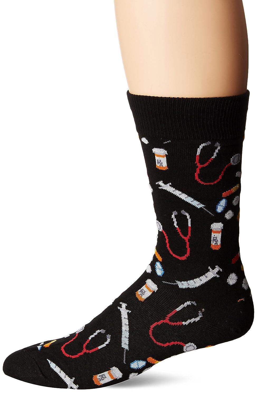 Socksmith Men's Meds Socks Socksmith Mens Meds Socks Meds Black Large MNC394