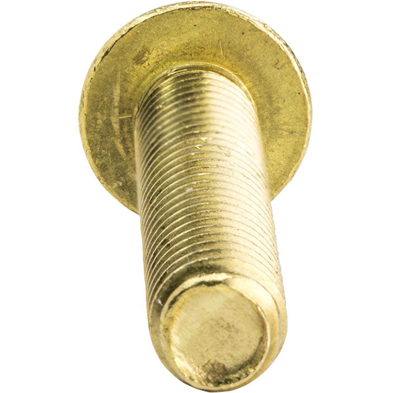 Plain Finish 8-32 x 1 Round Head Machine Screws Slotted Drive Machine Thread Full Thread Solid Brass Grade 360 Quantity 50