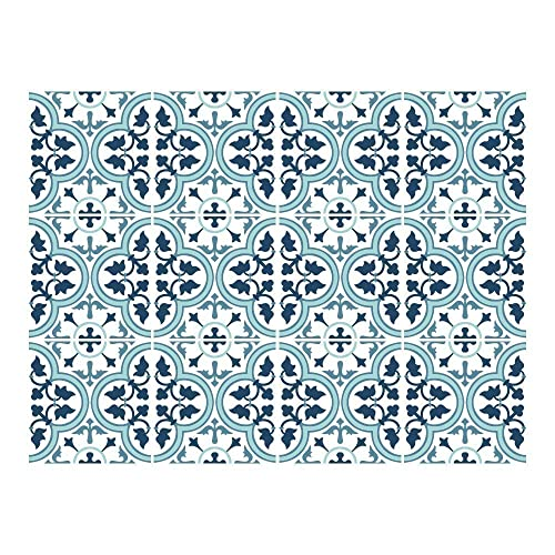 Lisbon Wall and Floor Tiles 24 Individual Tiles Decals Tile Decals Just Peel and Stick Waterproof Home Decoration HomeArtDecor Suitable for Kitchen and Bathroom Decorative Tiles