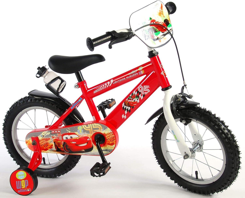 Cars Disney - Bicicleta Infantil con Ruedas de Apoyo (14 Pulgadas): Amazon.es: Deportes y aire libre