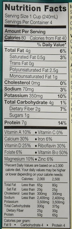 Silk - Leche orgánica de la soja sin azucarar - 32 oz.: Amazon.es: Salud y cuidado personal