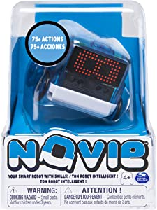 Novie Interactive Smart Robot for Kids with Over 75 Actions & Learns 12 Tricks, Blue