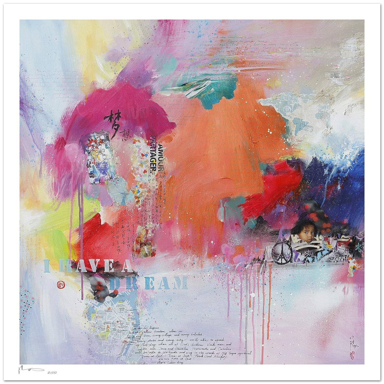 Reproducción de arte - I have a dream - sobre papel de acuarela ...
