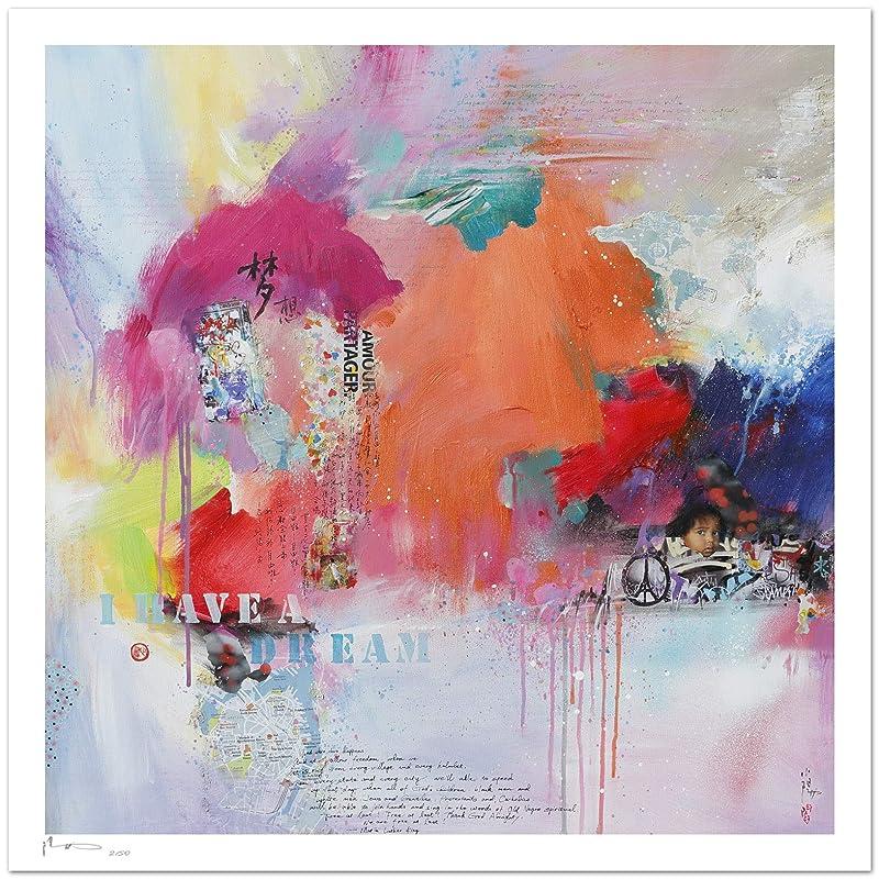 Reproducción de arte - I have a dream - sobre papel de acuarela 300g/m² con textura, de alta calidad: Amazon.es: Handmade