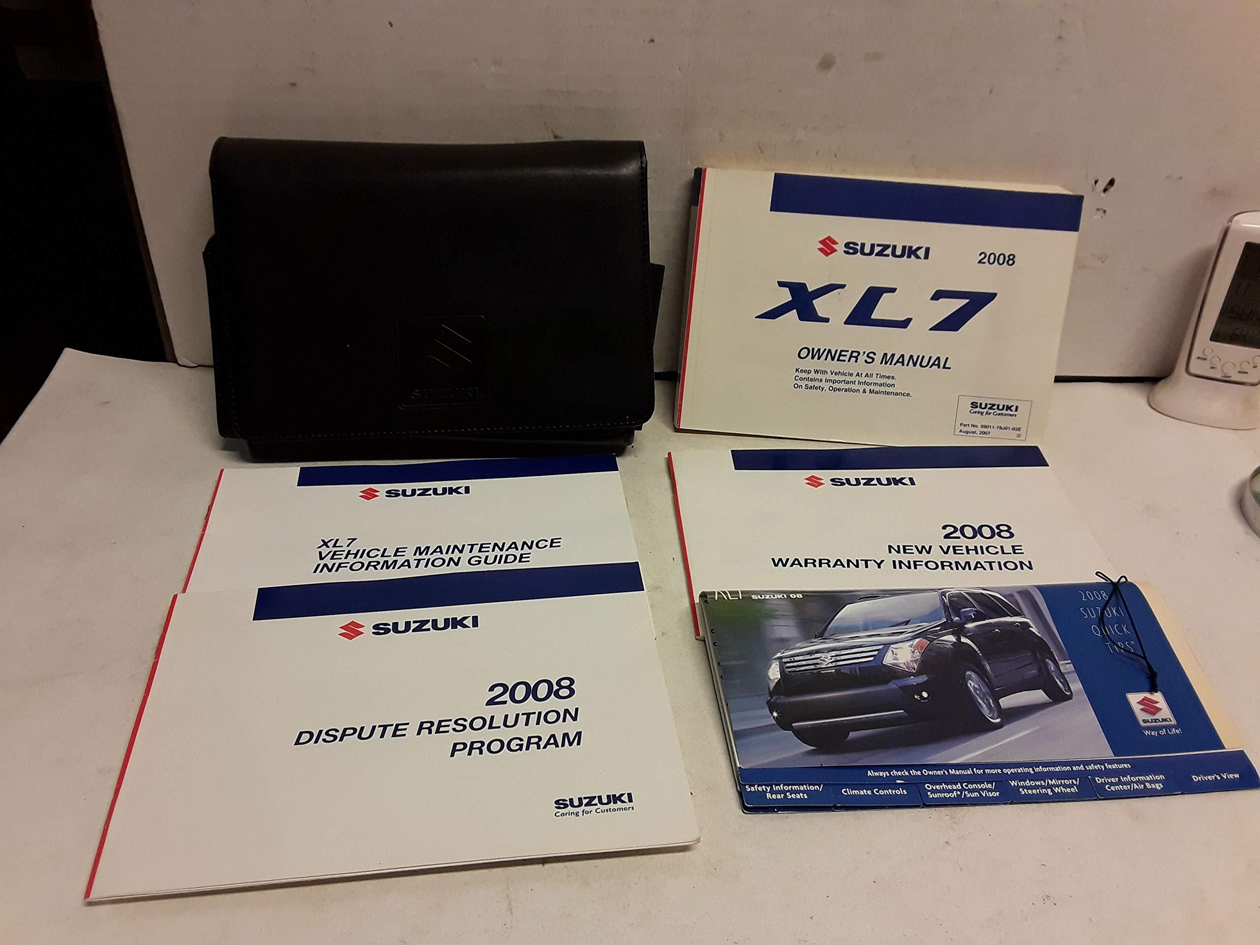 2008 Suzuki XL7 Owners Manual with Case Book Set: SUZUKI