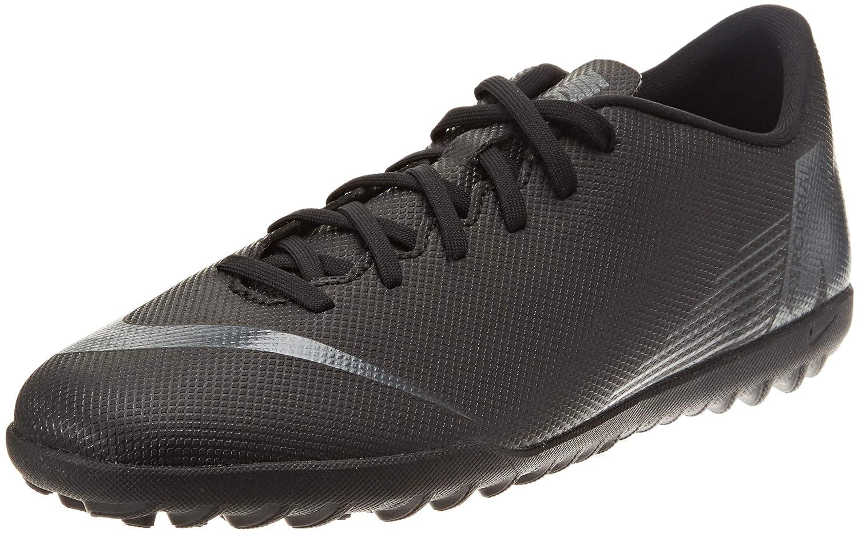 Nike Vapor 12 Club TF, Zapatillas Unisex Adulto 40 EU|Negro (Black/Black 001)