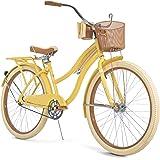 "Huffy Nel Lusso Women's Classic Cruiser Bike Frame Yellow, 26"""
