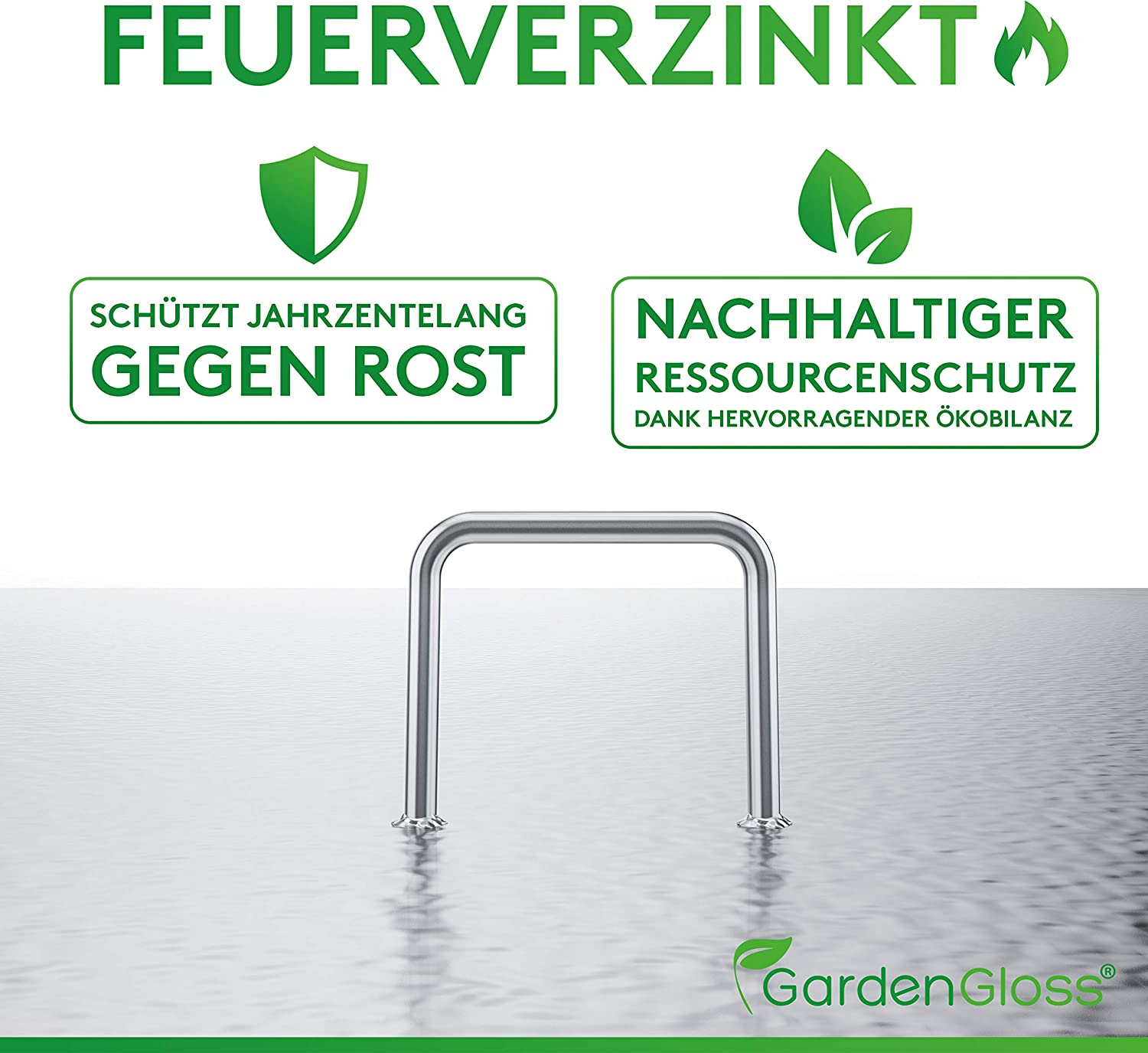 GardenGloss Heavy Duty Garden Pegs Made of Steel Strong Metal Pegs for Membrane Netting and Fence Anti-Rust Landscape Staples