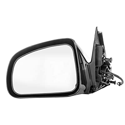 Driver Side Mirror for Pontiac Grand Prix (2004 2005 2006 2007 2008) Black Power Adjusting Non-Heated Non-Folding Outside Rear View Replacement Left Door Mirror - GM1320279: Automotive
