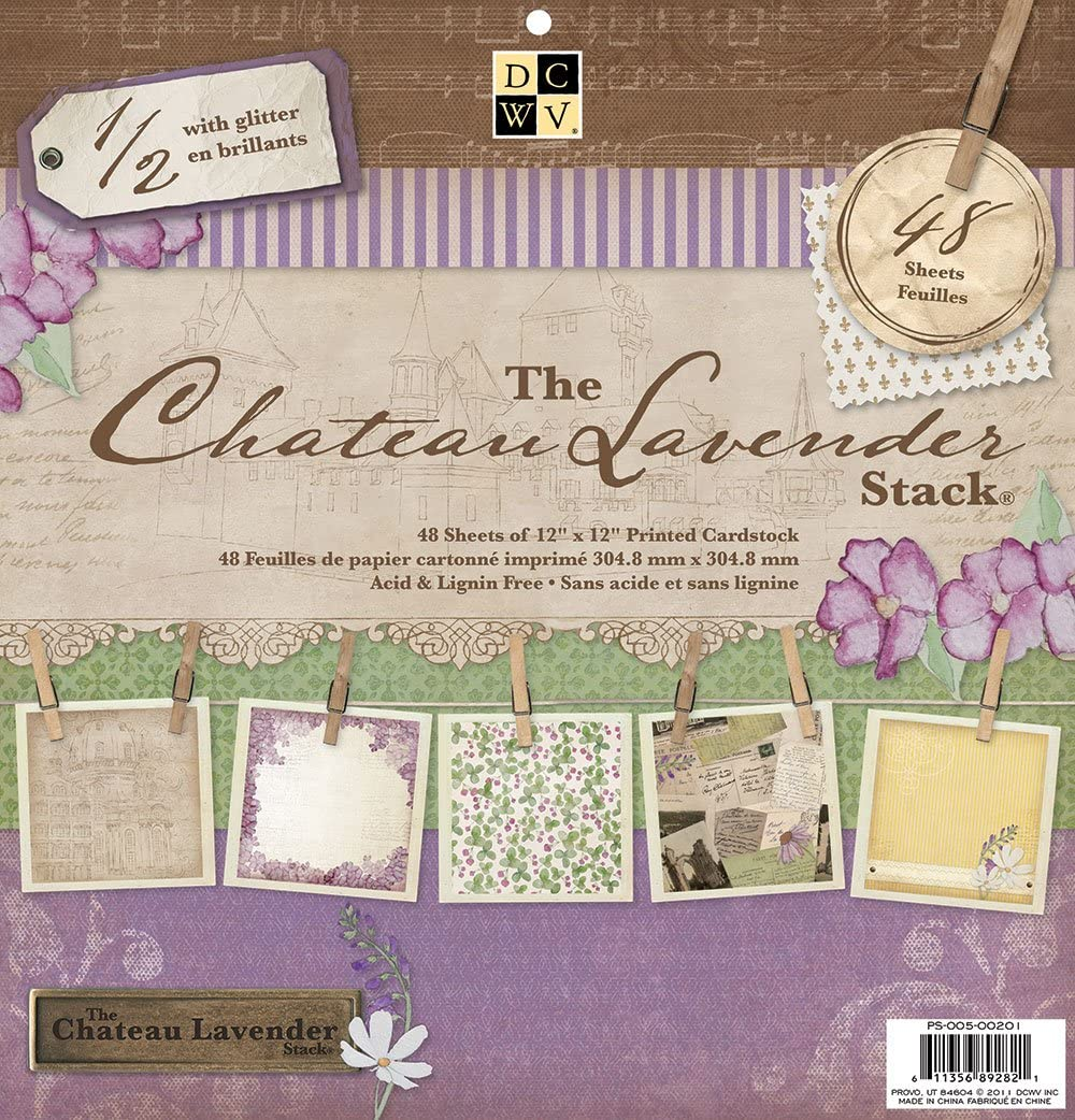 Die Cuts With a View Paper Stacks F/êtes 30,5/x Stack Chateau Lavande