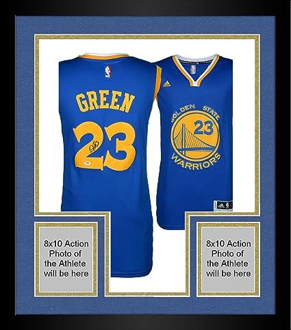 b6669985d13 Framed Draymond Green Golden State Warriors Autographed Blue Jersey - PSA/ DNA Certified - Autographed