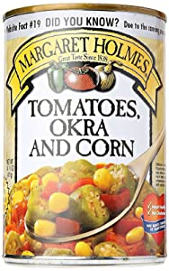Margaret Holmes Tomatoes Okra and Corn, 15 oz - 3 pack