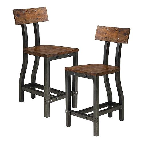 Homelegance Beechnut Counter Height Chair Set of 2 , Brown