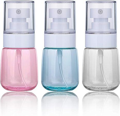 Bote Spray Botella de Aerosol Vacío Plástico Transparente Niebla Fina Atomizador de Viaje Recargable Conjunto de Botellas Maquillaje Vacio de Agua ...