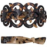 Strong Large Barrette Hair Clip Grip Set for Thick Hair Tortoise Shell Pattern Women Girls