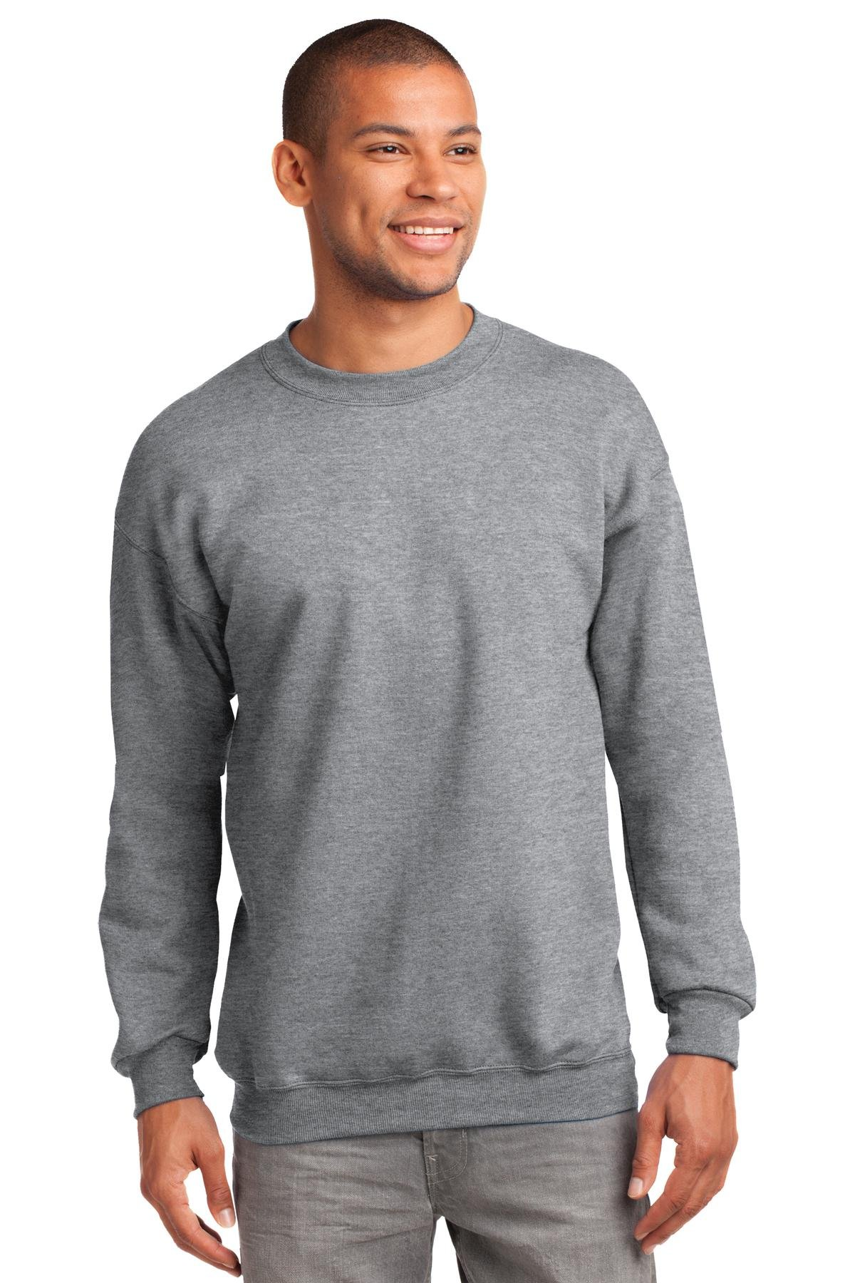 Port & Company Mens Tall Ultimate Crewneck Sweatshirt, Athletic Heather, Large Tall