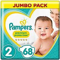 Pampers Premium Protection Windeln New Baby, Gr. 2 Mini (4-8 kg), Jumbopack, 1er Pack (1 x 68 Stück)