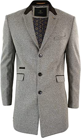 manteau 3 4 homme anthracite