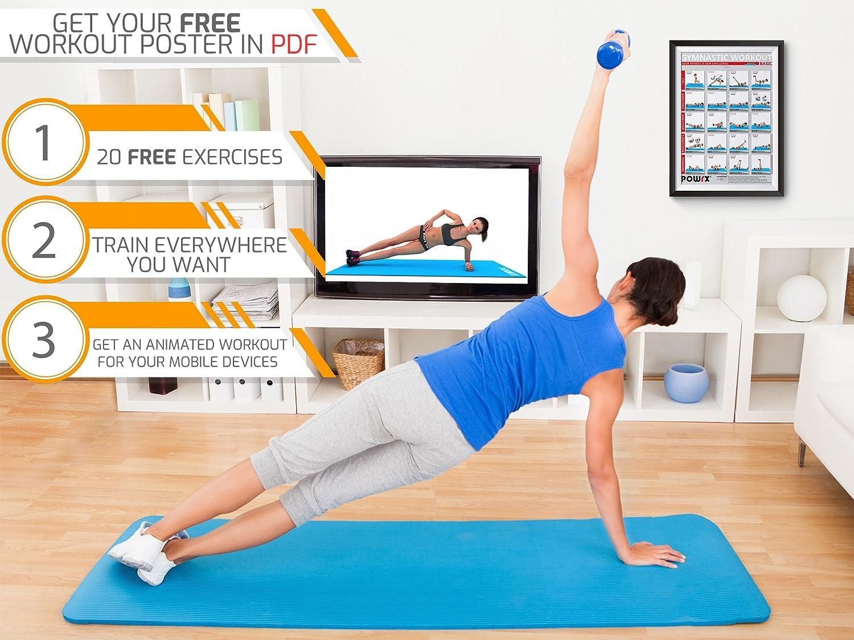 POWRX Gymnastikmatte 6er Set inkl. Trageband + Workout I Trainingsmatte Yogamatte Phthalatfrei 190 x 60 x 1.5 cm od. 190 x 100 x 1.5 cm I versch. Farben