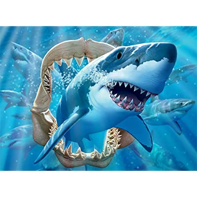 Ceaco Undersea Glow Great White Delight Jigsaw Puzzle: Toys & Games