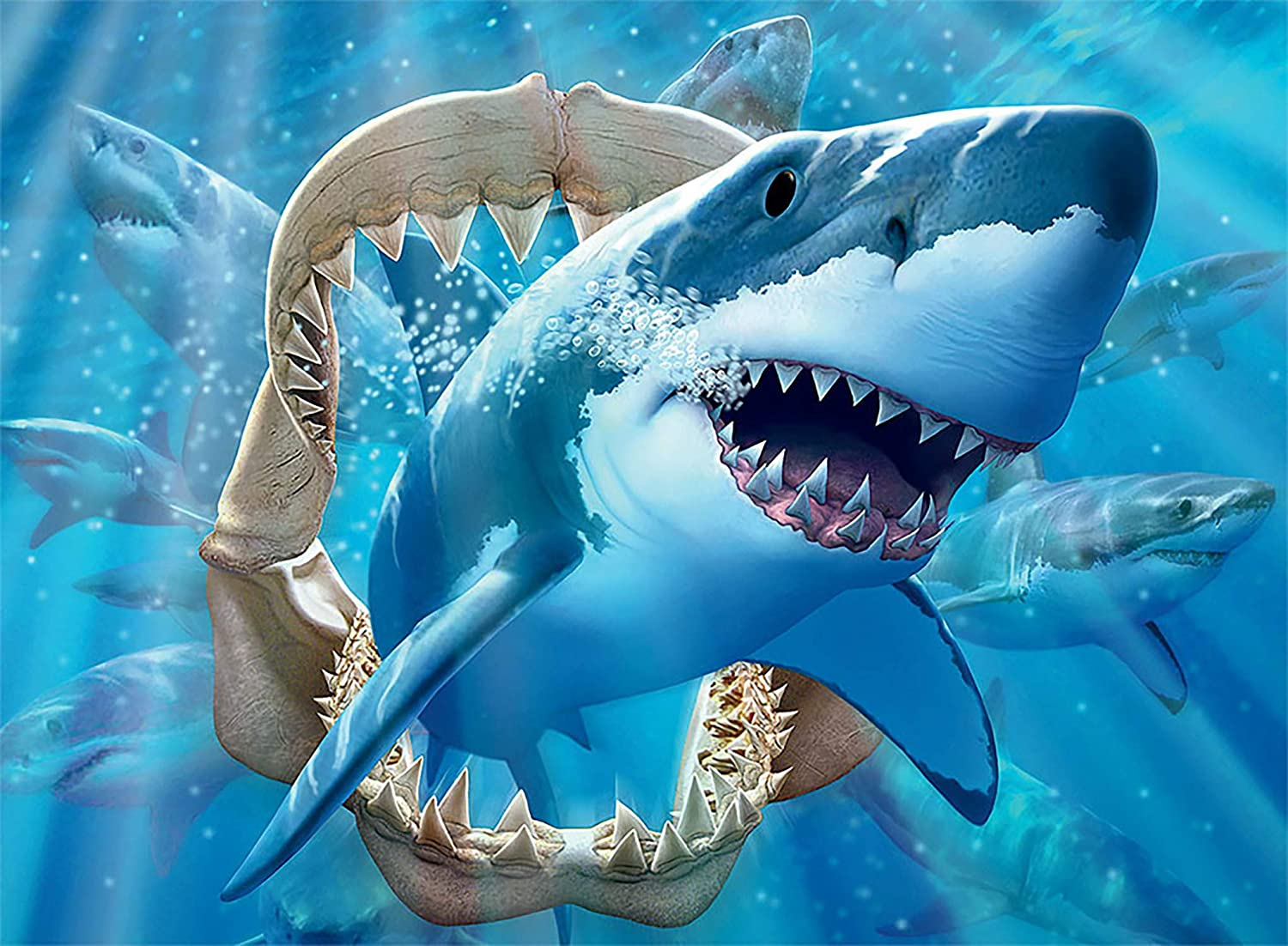 Ceaco Undersea Glow Great White Delight Jigsaw Puzzle