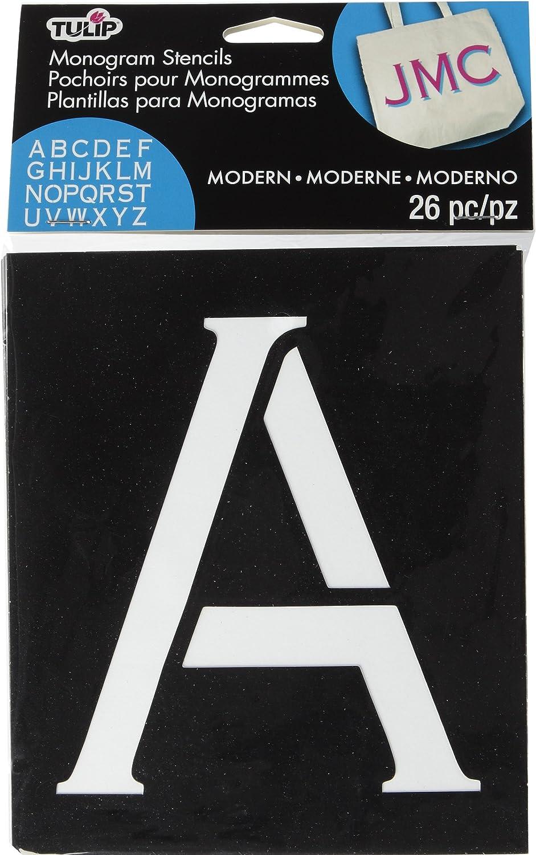 Tulip Modern Monogram Fabric Stencils