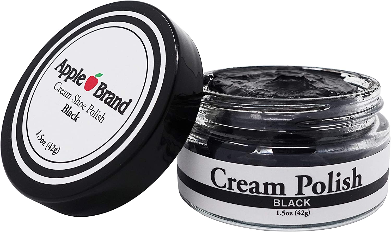 Apple Brand Premium Cream Shoe Polish - Black   Made In The USA