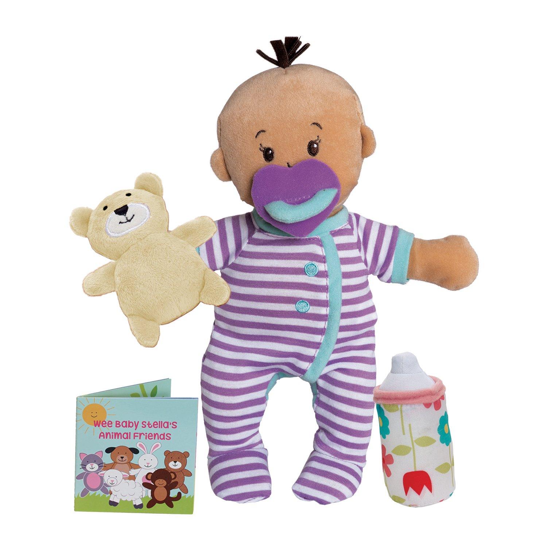 Manhattan Toy Wee Baby Stella Beige Sleepy Times Scent 12'' Soft Baby Doll Set