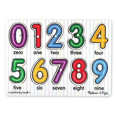 Melissa & Doug Numbers Peg Puzzle (10 pcs): Melissa & Doug: Toys & Games