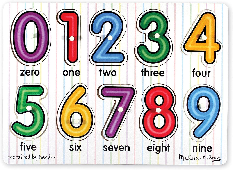 Melissa & Doug Numbers Peg Puzzle (10 pcs)