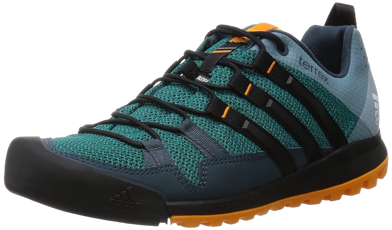 Adidas Terrex Solo, Zapatillas de Running para Asfalto para Hombre, Verde (Green/Core Black/Orange), 43 1/3 EU 43 1/3 EU|Verde (Green/Core Black/Orange)